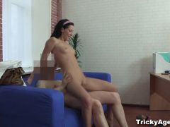 Tricky Agent - A teen gets fucked for future promise
